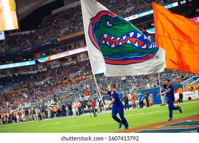 Miami Gardens, FL/ USA -  December 30, 2019: Capital One Orange Bowl University of Florida Gators vs. University of Virginia College Football