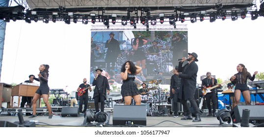 Miami Gardens, FL/USA - 03/17/2018: A. Randolph and the Smash Room Project on stage at Jazz in the Gardens 2018. Jazz in the Gardens is a two day music festival in Miami Gardens FL.
