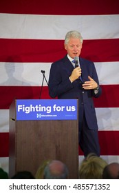Miami Gardens, FL/USA - February 28, 2016:  President William Jefferson Clinton addresses the audience at the Betty T. Ferguson Center.  The event was a campaign rally for Hillary Clinton.