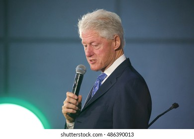 Miami Gardens, FL/USA - February 28, 2016:  President William Jefferson Clinton walks the receiving line at the Betty T. Ferguson Center.  The event was a campaign rally for Hillary Clinton.