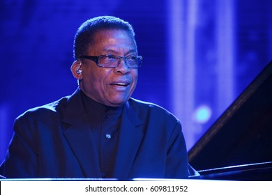 Miami Gardens, FL/USA - March 18, 2017:  Seventeen (17) time Grammy award winner Herbie Hancock on stage at Jazz in the Gardens. JITG is a 2 Day music festival that takes place at Hard Rock Stadium.
