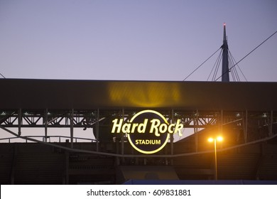 Miami Gardens, FL/USA - March 18, 2017: Hard Rock Stadium in Miami Gardens, Florida is the site for Jazz in the Gardens Music Festival. JITG is celebrating it's 12th year at this site.
