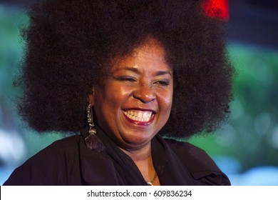 Miami Gardens, FL/USA - March 18, 2017:  Grammy Award winner Betty Wright addresses the press at Jazz in the Gardens Music Festival. JITG is a 2 Day festival that takes place at Hard Rock Stadium.