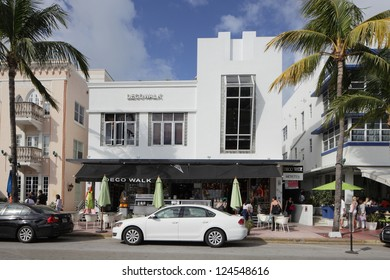 MIAMI - JANUARY 12: Deco walk Hostel offers accommodations to budget travelers with rates as low as $23 per night and sleeps up to 10 people per room January 12, 2013 in Miami, Florida.