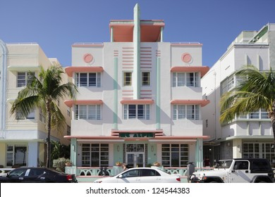 MIAMI - JANUARY 12: Mc Alpin Hotel located at 1424 Ocean Drive was built in 1940 by Lawrence Murray Dixon January 12, 2013 in Miami, Florida.