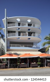 MIAMI - JANUARY 12: The Strand Condo hotel, located at 1024 ocean drive, was built in 1964 and is a condominium and timeshare January 12, 2013 in Miami, Florida.