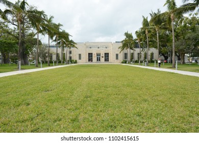MIAMI - JANUARY 7, 2018: The Bass Art museum in South Beach, Miami, FL
