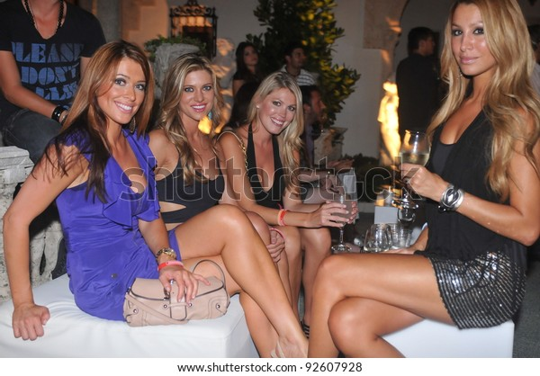 MIAMI - JULY 16: Guests arriving to private party for the Shay Todd Swimsuit Collection for Spring/ Summer 2012 during Mercedes-Benz Swim Fashion Week on July 16, 2011 in Miami, FL