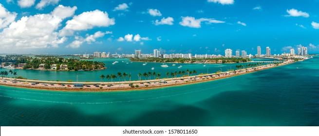 Miami port view, FL, USA