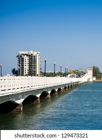Miami Skyline with Biscayne Bay and Venetian causeway