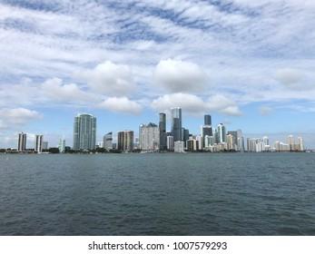 Miami Skyline Brickell view from Key Biscayne