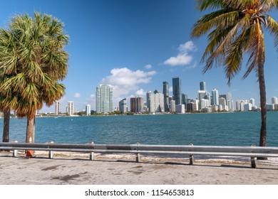 Miami skyline from Causeway.