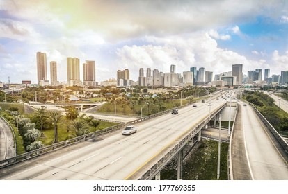 Miami skyline and Highways