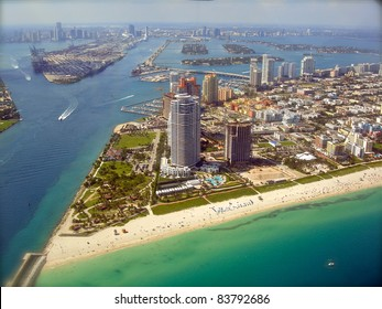Miami Skyline - view from Plane