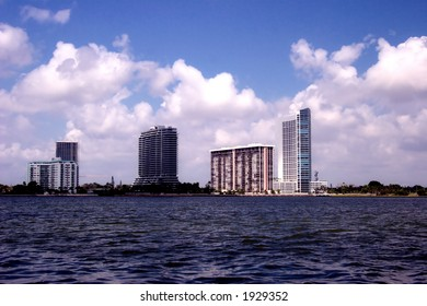 Miami Skyline from the water