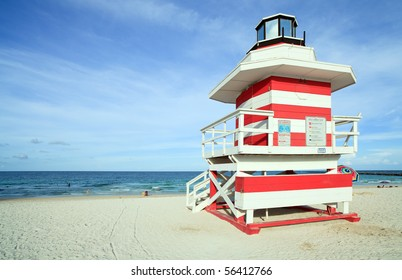 d420b675c5b6 Miami South Beach Lifeguard Hut in the late Afternoon. Lifeguard station ...