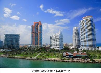 Miami town in day time ,Florida , USA.