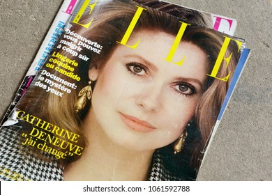 MIAMI, UNITED STATES OF AMERICA, USA - APRIL 02, 2018: Magazine ELLE French edition JUN 1981 with Catherine Deneuve on cover.