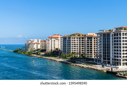 Miami, United States - April 27, 2019: Fisher Island is census-designated place in Miami-Dade County, Florida, US. Fisher Island had the highest per capita income in the United States.