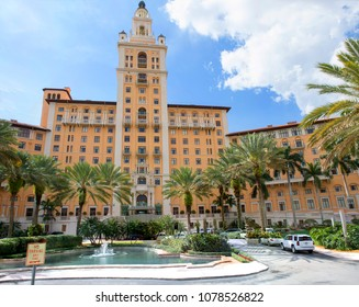 Miami, USA, 03/17/2016, Biltmore hotel in Coral Gables. The historic resort is located in the city of Coral Gables, Florida near Miami. Hotel Biltmore has become the hallmark of Coral Gables.