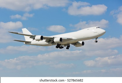 Miami, USA - December 2, 2016: Atlas Air Boeing 747 landing at the Miami International Airport.