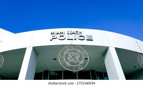 MIAMI, USA - NOVEMBER, 2019: Outside shot of Miami Beach Police Headquarter (MBPD)