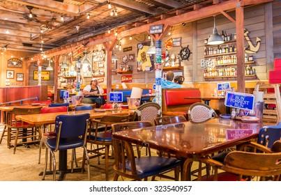 MIAMI, USA - SEPTEMBER 10, 2014 : Restaurant Bubba Gump in Miami USA on September 10, 2014 in Miami. Bubba Gump is seafood restaurant after Forrest Gump movie.