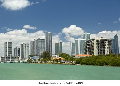 Miami from the water.