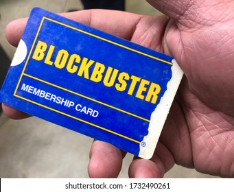 Miami, year 2019: Blockbuster Membership card in hand. Retro video club.