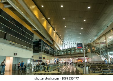Miami,Fl,USA on 23rd May 2018:South Terminal in Miami International Airport. The airport has three terminals which are split in to a number of concourses and 140 gates