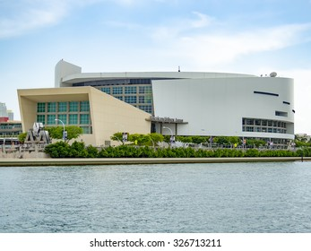 MIAMI,USA - AUGUST 5,2015: The American Airlines Arena, home to the Miami Heat and a famous concert venue