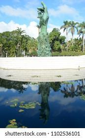 MIAMI,USA - February 8, 2018 : Holocaust Memorial in Miami Beach, Florida