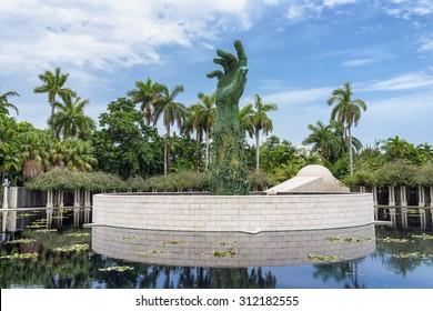 MIAMI,USA - JULY 31, 2015 : The Holocaust Memorial on Miami Beach