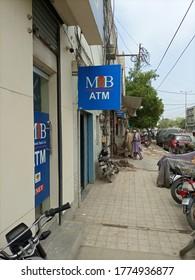 MIB bank atm sign board at it's west wharf branch - Karachi Pakistan - Jul 2020