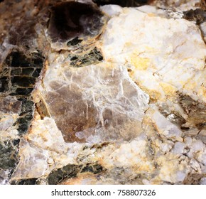 Mica and pegmatite as abstract image