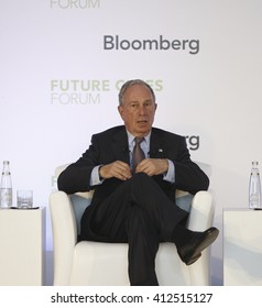 Michael Bloomberg, founder of Bloomberg. Istanbul, Turkey, 14 March 2014