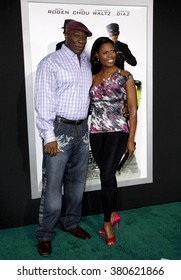 "Michael Clarke Duncan and Omarosa Manigault at the Los Angeles Premiere of ""The Green Hornet"" held at the Grauman's Chinese Theater in Hollywood, California, United States on January 10, 2010."