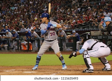 Michael Conforto center fielder for the New York Mets at Chase Field in Phoenix Arizona USA June 17,2018.