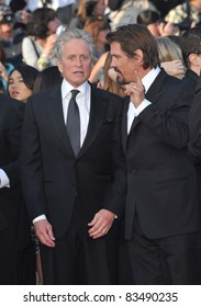 """Michael Douglas & Josh Brolin at the premiere screening of their movie """"Wall Street: Money Never Sleeps"""" at the 63rd Festival de Cannes. May 14, 2010  Cannes, France Picture: Paul Smith / Featureflash"""