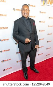 Michael Durio attends INFOList.com Red Carpet Re-Launch Party & Holiday Extravaganza! at SKYBAR at the Mondrian Hotel, Los Angeles, California on December 5th, 2018