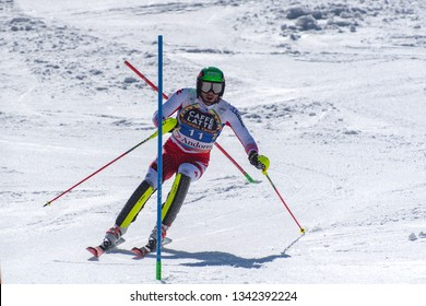 MICHAEL MATT AUT takes part in the RACE run for the men´s Slalom race of the FIS Alpine Ski World Cup Finals at Soldeu-El Tarter in Andorra, on March 17, 2019.