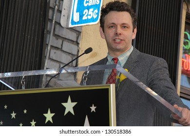 Michael Sheen at the Richard Burton Posthumous Star On The Hollywood Wallk of Fame ceremony, Hollywood, CA 03-01-13