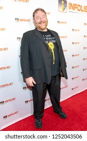 Michael Tabb attends INFOList.com Red Carpet Re-Launch Party & Holiday Extravaganza! at SKYBAR at the Mondrian Hotel, Los Angeles, California on December 5th, 2018