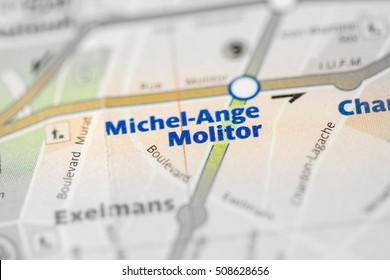 Michel-Ange Molitor Station. 10th Line. Paris. France