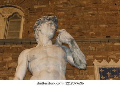 Michelangelo, David. Piazza della Signoria, Firenze.