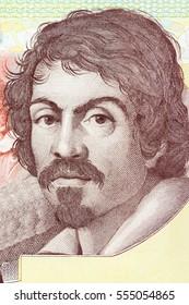 Michelangelo Merisi da Caravaggio portrait from Italian money