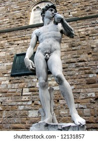 Michelangelo's David, 1501-1504, is a masterpiece of Renaissance sculpture. It came to symbolize the defense of civic liberties embodied in the Florentine Republic.