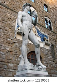 Michelangelo's David, sculpted from 1501 to 1504, is a masterpiece of Renaissance sculpture and one of Michelangelo's greatest works. It came to symbolize the defense of civic liberties.