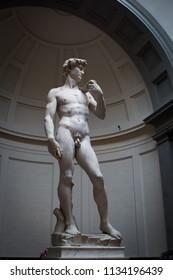 Michelangelo's famous David.