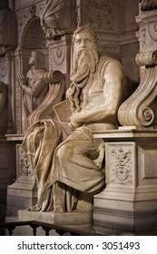 Michelangelo's Moses in San Pietro in Vincoli, Rome,Italy